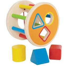Clasificador de formas 1-2-3 de madera