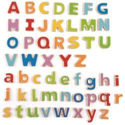 Letras magnéticas ABC de madera
