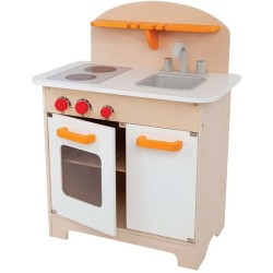 Cocina gourmet de madera (blanca)