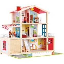 Mansión de madera para muñecas