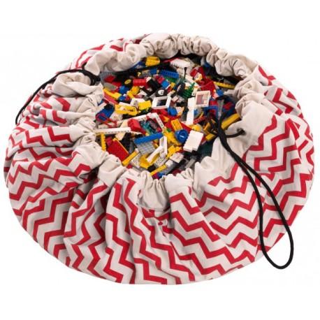 Sacos de juguetes Play & Go Zigzag rojo