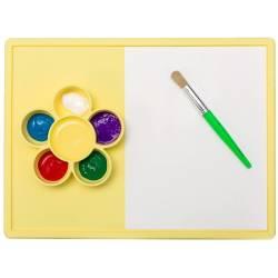 Mantel de juego infantil de silicona Play Mat amarillo limón