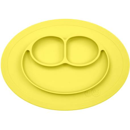 Vajilla infantil de silicona The Mini Mat amarillo limón