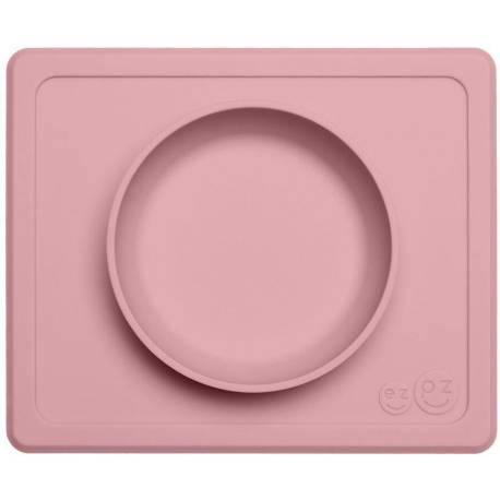 Vajilla infantil de silicona Mini Bowl rosa palo