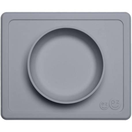 Vajilla infantil de silicona Mini Bowl gris