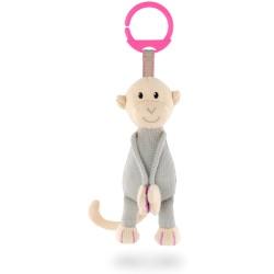 Mono rosa colgante de punto Matchstick Monkey