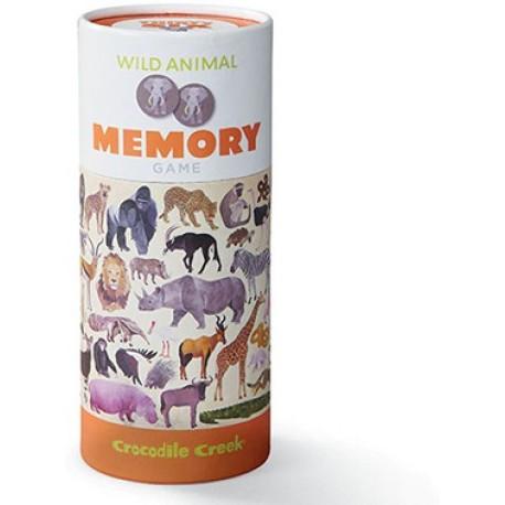 Juego de memoria de 36 piezas de animales salvajes