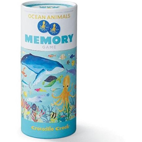 Juego de memoria de 36 piezas de animales del océano
