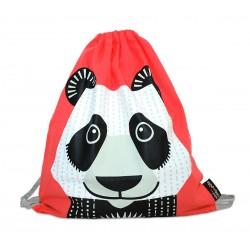 Mochila de cordones roja Panda