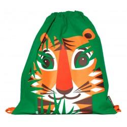 Mochila de cordones verde Tigre
