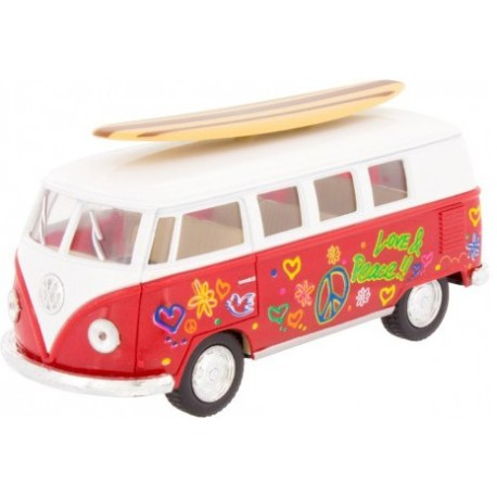 Furgoneta VW Surfboard roja