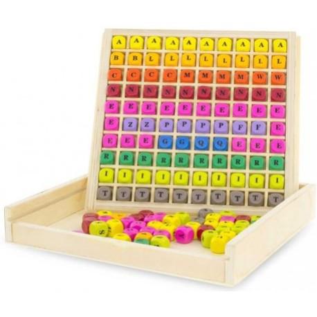 Caja de letras para crucigramas