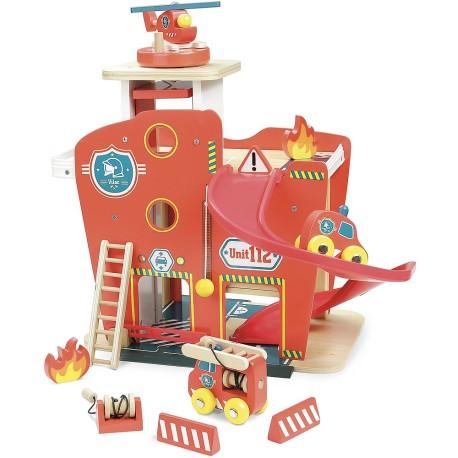 Estación de bomberos de madera