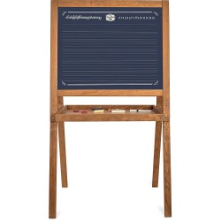 Caballete de madera con pizarra vintage