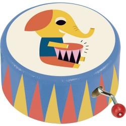 Caja de música de madera elefante