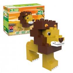 Bloques de construcción eco-friendlies león de la sabana (11 piezas)