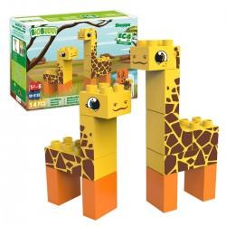 Bloques de construcción eco-friendlies jirafa de la estepa (14 piezas)