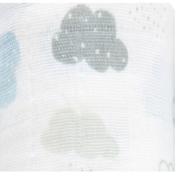 "Muselina de algodón ""night sky"" nubes"
