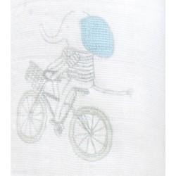 "Muselina de algodón ""night sky"" bicicleta"
