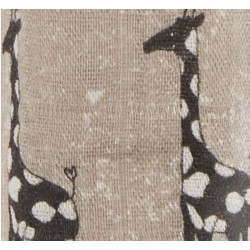 "Muselina de bambú ""sahara motif"" cebras y jirafas"