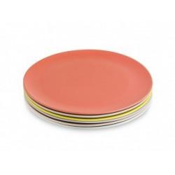 Set de 6 platos grandes colores pastel