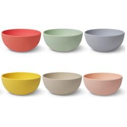 Set de 6 boles colores pastel