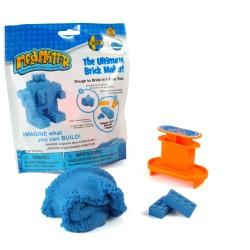 Fabrica tus propios ladrillos con plastilina mágica Mad Mattr (azul)