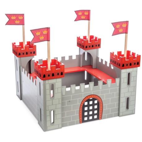 Mi primer castillo de madera rojo