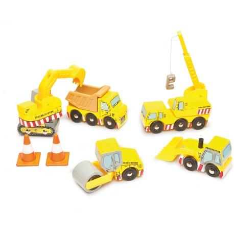Set de vehículos de construcción de madera