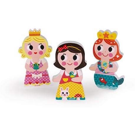 Figuritas de princesas magnéticas