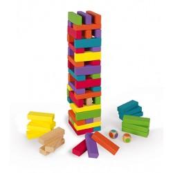 Juego de equilibro con piezas de madera