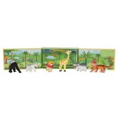 Animales de la selva con escenario