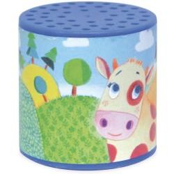Caja azul de sonido de vaca