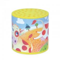 Caja amarilla de sonido de vaca