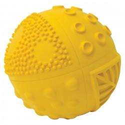 Pelota sensorial de caucho 8 cm amarilla
