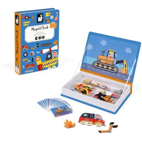 Maletín-libro magnético para crear vehículos