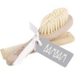 Cepillo y peine de madera (Brush, Comb)