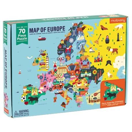 Puzle de 70 piezas de Europa