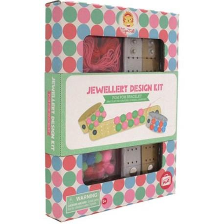 Kit de joyería de pulseras de pompones