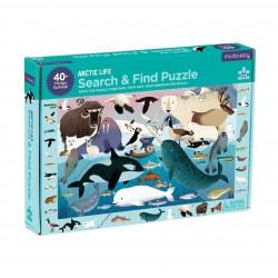 """Puzle """"busca y encuentra"""" de 64 piezas del ártico"""