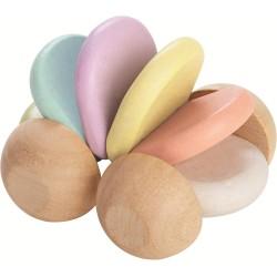 Coche flexible de madera en colores pastel