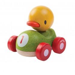 Pato el piloto de madera