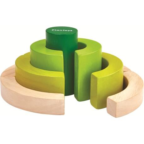 Bloques de madera curvados