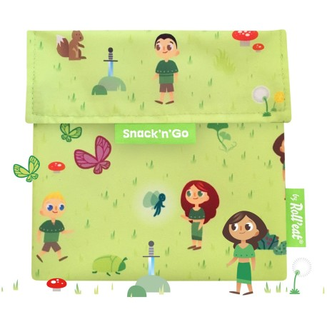 Porta snacks Snack'n'Go Kids Forest (verde)