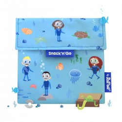 Porta snacks Snack'n'Go Kids Ocean (azul)