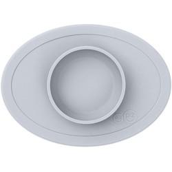 Vajilla infantil de silicona Tiny Bowl gris claro