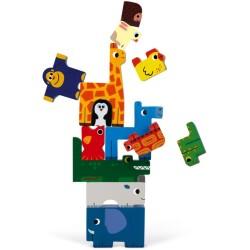 Juego de equilibrio y puzle de animales 2 en 1