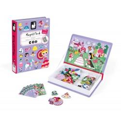 Maletín-libro magnético para crear princesas