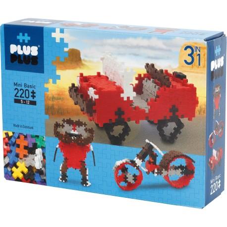 """Puzle 3D de 220 piezas """"3 en 1"""""""