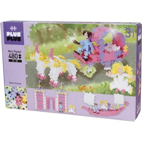 """Puzle 3D de 480 piezas """"Princesas 3 en 1"""""""